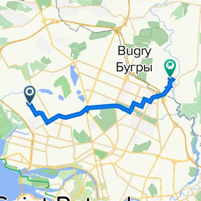 От Комендантский проспект, 56с1, Санкт-Петербург до Скандинавский проезд, 8 к1, Муринское