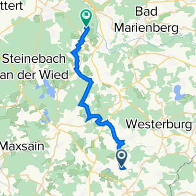 Brückenstraße 41, Mähren nach In der Trifft 8, Alpenrod