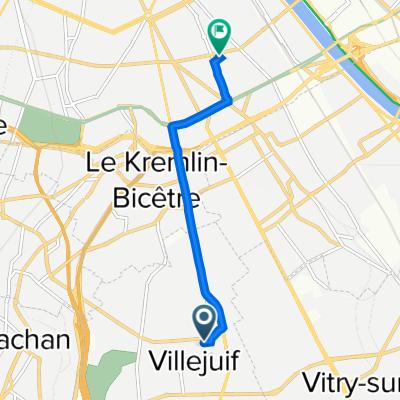 De 14 Rue Roger Morinet, Villejuif à 4 Rue Ponscarme, Paris