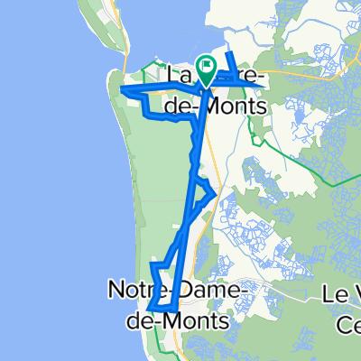 De Route de Saint-Jean de Monts 36, La Barre-de-Monts à Route de Saint-Jean de Monts 36, La Barre-de-Monts