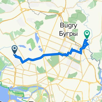 От Нижне-Каменская улица, 1литА, Санкт-Петербург до Скандинавский проезд, 8 к1, Муринское