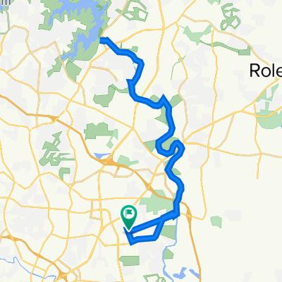 4700 Treadstone Ct, Raleigh to 4700 Treadstone Ct, Raleigh