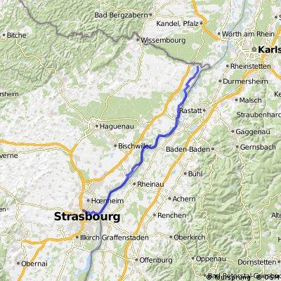 Rheinweg Lauterbourg - Strasbourg CLONED FROM ROUTE 591189