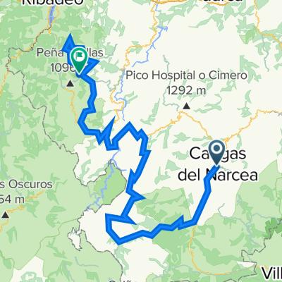 Cangas-Bobia. 6000m en 199km