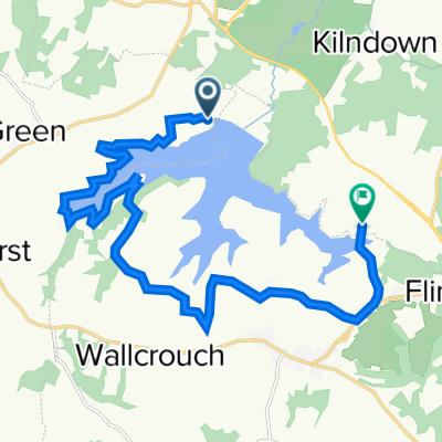 Bewl Water, Bewlbridge Lane, Tunbridge Wells to Rosemary Lane, Flimwell, Wadhurst