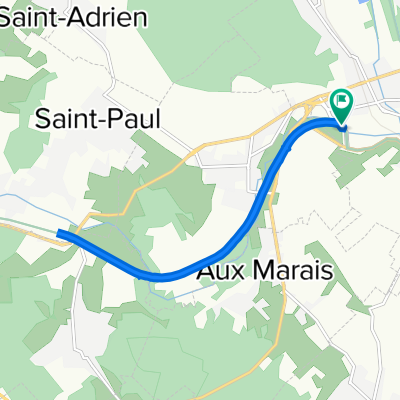 De Rue de l'Avelon 4, Beauvais à Rue de Pentemont 24, Beauvais