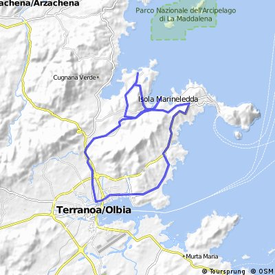 Rundtour Olbia- Golf v Marinella-Porto Rotondo-Golfo Aranci-Olbia