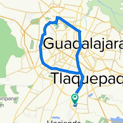 De Calle Fuente de la Concordia 220, Tlaquepaque a Calle Fuente de la Concordia 218, Tlaquepaque