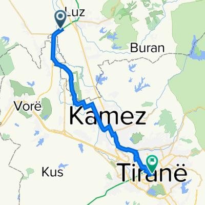 Route to Skanderbeg Square, Tirana