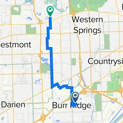 Route from 503 Village Center Dr, Burr Ridge