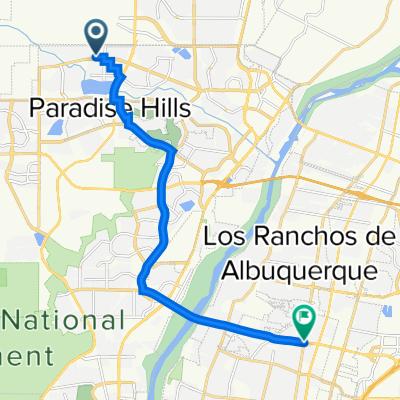 Park South Place Northwest 6151, Albuquerque to Montaño Road Northwest 399, Albuquerque