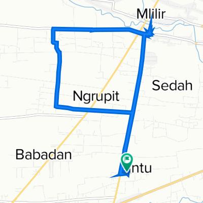 Jalan Serayu no.30, Kecamatan Jenangan to Jalan Serayu no.30, Kecamatan Jenangan