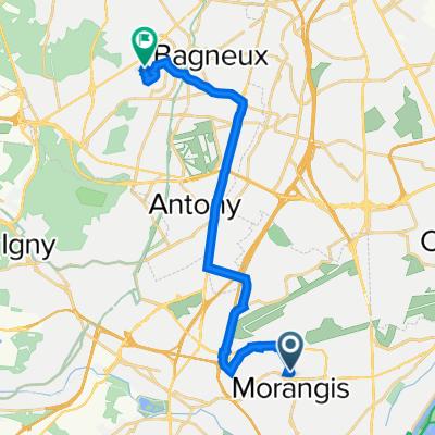 De 11 Rue Barbara, Morangis à Centre d'Études Atomiques Nucléaires, Fontenay-aux-Roses