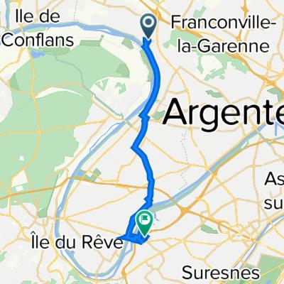 De 38 Rue du Petit Pont, La Frette-sur-Seine à 3 Place Louis Renault, Rueil-Malmaison