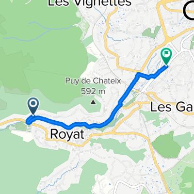 De 92 Boulevard du Docteur Rocher, Royat à 50 Avenue des Thermes, Chamalières