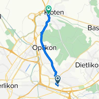 Industriestrasse 42, Wallisellen nach Schaffhauserstrasse 130, Kloten