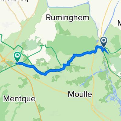 1 Rue du Général de Gaulle, Watten to 1–17 Rue de l'Église, Nordausques
