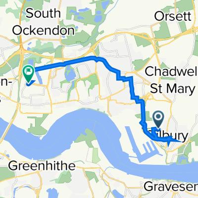 24 Darwin Road, Tilbury to 15 Thurrock Shopping Park, Weston Ave, Grays