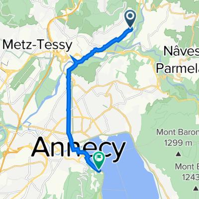 381 Route de Gruyère, Argonay to 80 Rue des Marquisats, Annecy