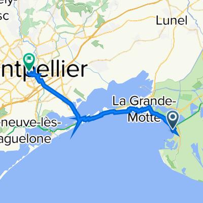 De Boulevard du Maréchal Juin 19, Le Grau-du-Roi à Rue Baudin 4bis, Montpellier