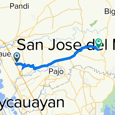 Route from 148 H. Capiral Street, Bocaue