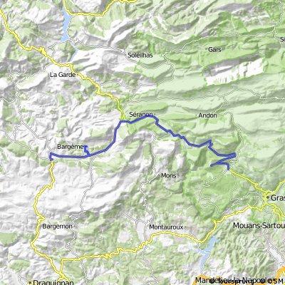 France st vallier-de-thiey to comps-sur-artuby