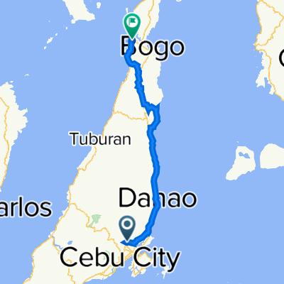 66 Macario Street, Mandaue City to Cebu North Road, San Remigio