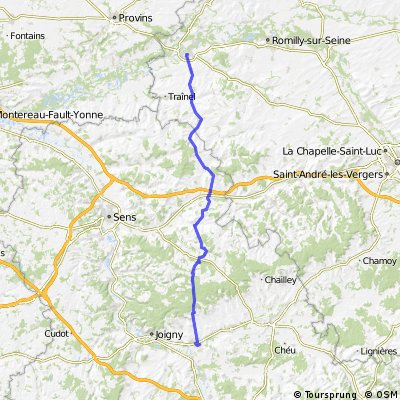 France nogent-sur-seine to migennes