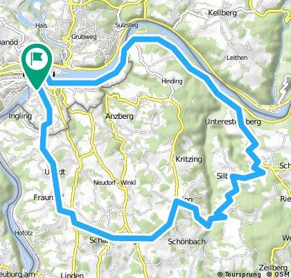Passau - Schardenberg - Esternberg (Runde) 32km, 2011-05-18