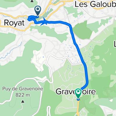 De 22 Avenue de la Vallée, Royat à Route de Royat, Ceyrat