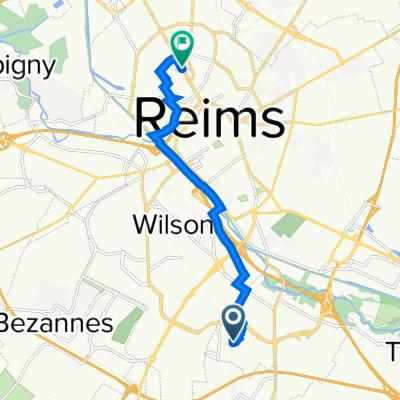 De 34 Rue du Dauphiné, Cormontreuil à 127–163B Avenue de Laon, Reims