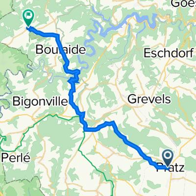 Rue de Folschette 15, Bettborn nach Rue du Moulin 1, Bauschleiden
