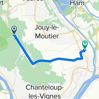 De Chemin des Meuniers, Triel-sur-Seine à 7 Rue du Pressoir, Maurecourt