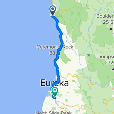 450 US-101, Crescent City to 612–636 11th St, Fortuna