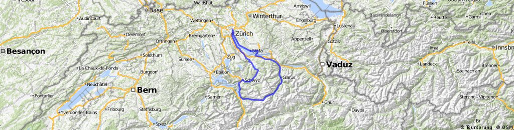 Zürich - Klausenpass - Ibergeregg - Zürich