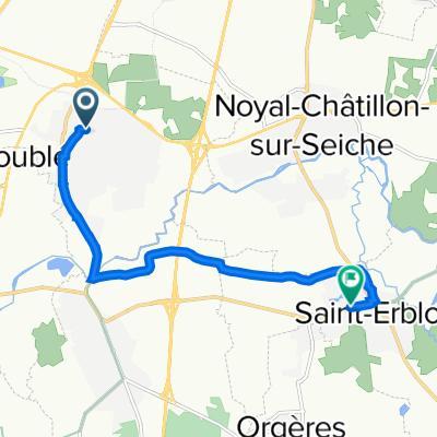 De Rue de la Poterie 30, Chartres-de-Bretagne à Rue du Champ Mulon 19, Saint-Erblon
