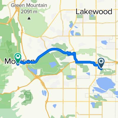 3898 S Teller St, Lakewood to 530–580 SH-8, Morrison
