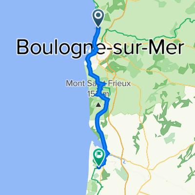 3 Rue Notre-Dame, Wimereux to 109 Avenue des Plages, Cucq