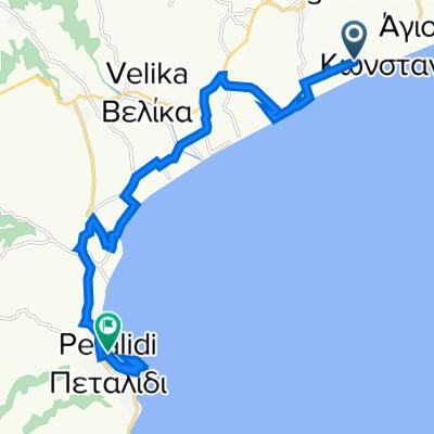 Unnamed Road, Messinia to Eparchiaki Odos Rizomilou-Koronis 26, Petalidi