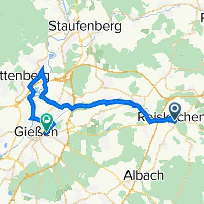 Gartenstraße 28, Reiskirchen nach Eichgärtenallee 16, Gießen