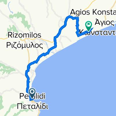 Eparchiaki Odos Rizomilou-Koronis 26, Petalidi to Unnamed Road, Messinia