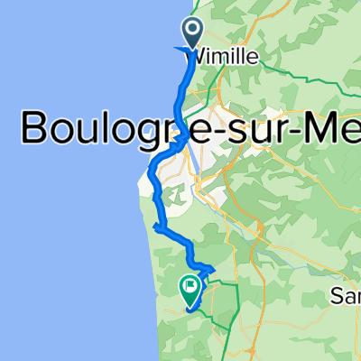 4 Rue Monseigneur Haffreing, Wimereux to 5 Avenue du Maréchal Joffre, Neufchâtel-Hardelot