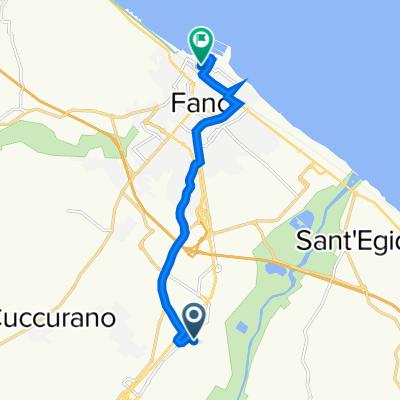 Da Via Filippo Meda 1H, Fano a Via dello Squero 2–34, Fano
