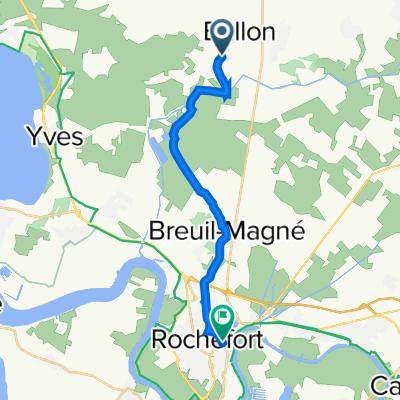 De D266, Ballon à 6 Avenue Camille Pelletan, Rochefort