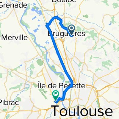 Rue de Rochefort 17, Bruguières to Blagnac