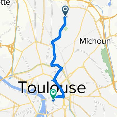 De 2 Rue Bertran, Toulouse à 1 Place Rouaix, Toulouse