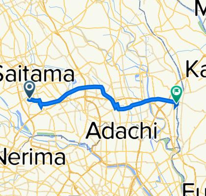 自宅⇒江戸川