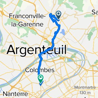 De 28 Avenue Jean Jaurès, Soisy-sous-Montmorency à 54–110 Rond-Point de l'Europe, La Garenne-Colombes