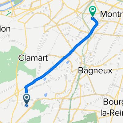 11 Rue Pierre d'Artagnan, Le Plessis-Robinson to 2 Impasse Ponscarme, Malakoff