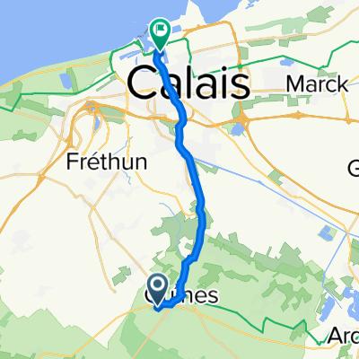Route to Quai Crespin, Calais